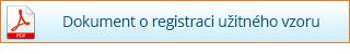Dokument o registraci užitného vzoru