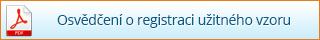 Osvedčení o registraci užitného vzoru